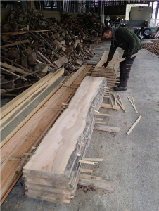 Ash wood planks